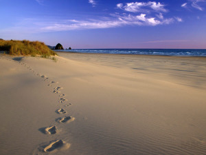 Passi sulla spiaggia