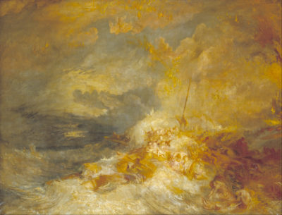 Joseph Mallord William Turner - A Disaster at Sea